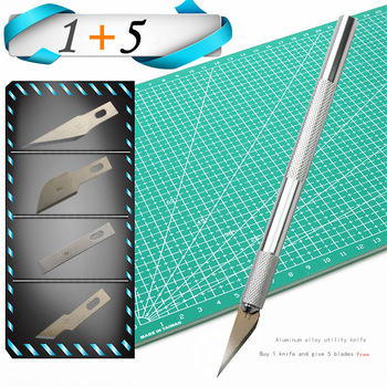 цена на Carving knife or 5PC Blades Wood Carving Tools Fruit Craft Sculpture Engraving utility Knife  DIY Cutting stationery Tool