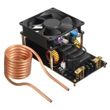 1000 Вт 20A звс индукционный нагрев машина вентилятор охлаждения pcb медные трубы 12-36 В с латунь катушки Бесплатная Доставка