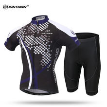 XINTOWN New Short Sleeve Cycling Jersey Set MTB Bike Clothing Summer Cool Bicycle Jerseys For Men Maillot Ropa Ciclismo