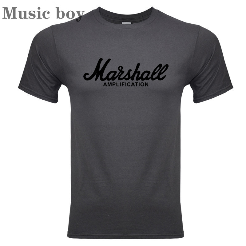Marshall   T     Shirt   Logo Amps Amplification Guitar Hero Hard Rock Cafe Music Muse Tops Tee   Shirts   For Men Fashion Harajuku   T  -  shirts