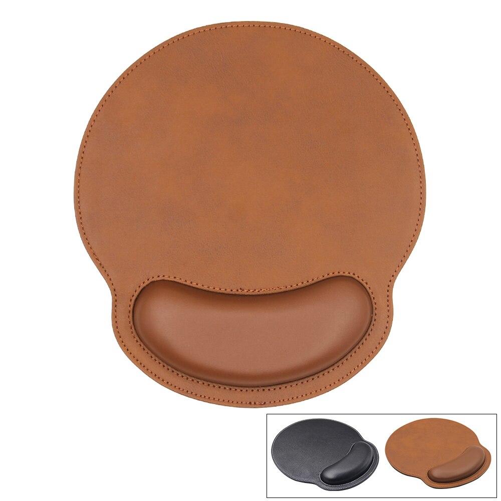 Tapis de souris ergonomique en cuir
