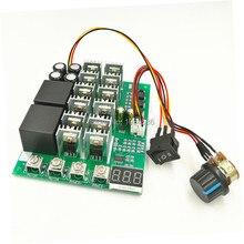 10 55 V 100A DC מנוע מהירות PWM בקרת בקר החלף מודול 10 V 12 V 24 V 36 V 48 V 55 V עם Forward stop הפוך היפוך תצוגת LED