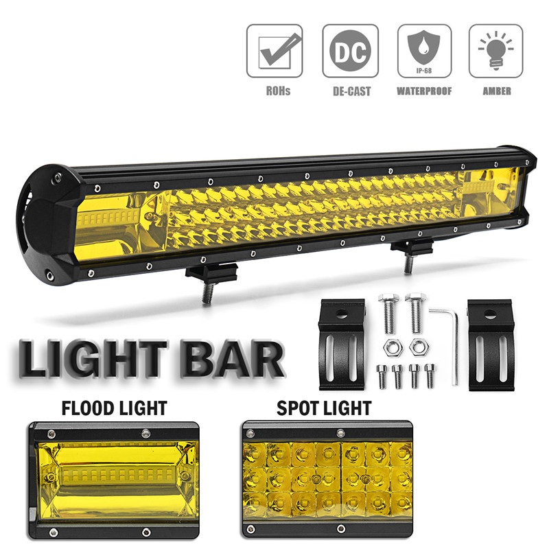 22Inch 648W 108 LED Work Light Bar Waterproof Flood Spot Combo LED Work Light Driving Lamp For SUV Offroad 4WD Truck new 22 120w led work light bar 12v spot flood combo high power 8800lm for boat offroad 4x4 truck suv atv jeep driving fog lamp
