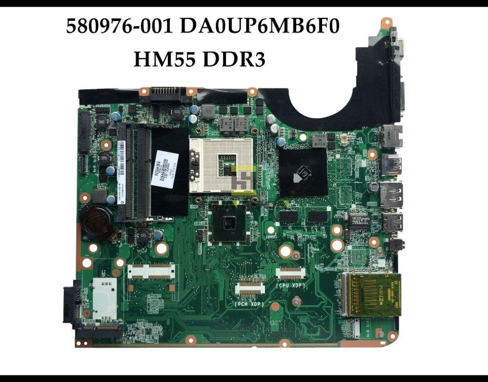 High quality 580976 001 for HP Pavilion DV6 2000 series Laptop Motherboard DA0UP6MB6F0 HM55 PGA989 DDR3