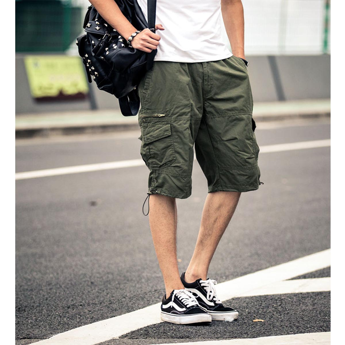 New coolMens twill Cargo Combat Trousers Pocket Camo Work Military Army shorts Men clothing Men Shorts