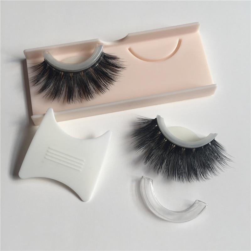1 Pair 3D Silk Protein False Eyelashes Self Adhesive Elegant Makeup Fake Eye Lashes Thick Long Black Extension Party Eye Lashes