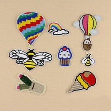 Colorful Ball And Animal Badge Repair Patch Embroidered Iron On Patches For Clothing Close Shoes Bags Badges Embroidery DIY