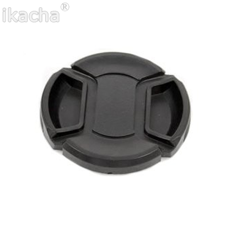 ФОТО 100pcs/lot 58mm SLR Camera Lens Cap Snap-On Front Lens Protection Protect Cover With Anti-lost Rope For All Camera