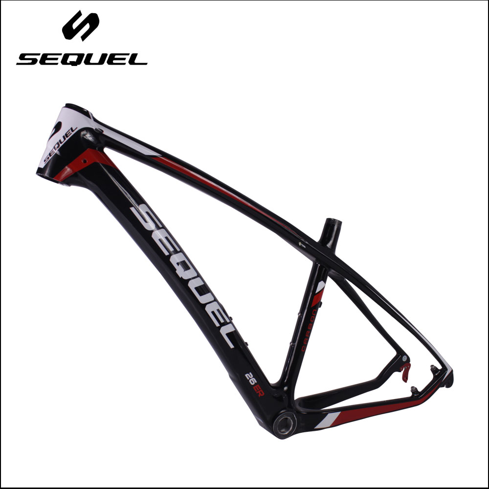 26er small carbon bike frame T800 carbon mountain bike frame cheap down hill bicycle frameset image