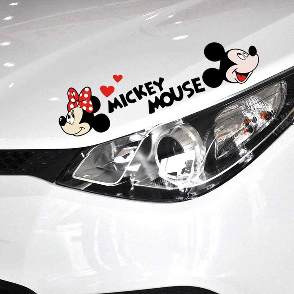 Aliauto автомобильный Стайлинг милый мультяшный Микки Маус Минни автомобильные наклейки и наклейки аксессуары для Volkswagen Golf Ford Focus Toyota