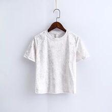ZYFPGS 2019 T-shirts Women Shirt Tops T-shirt Solid Color Covered With Pattern Hollow Fashion Slim fit New Arrivals leisure