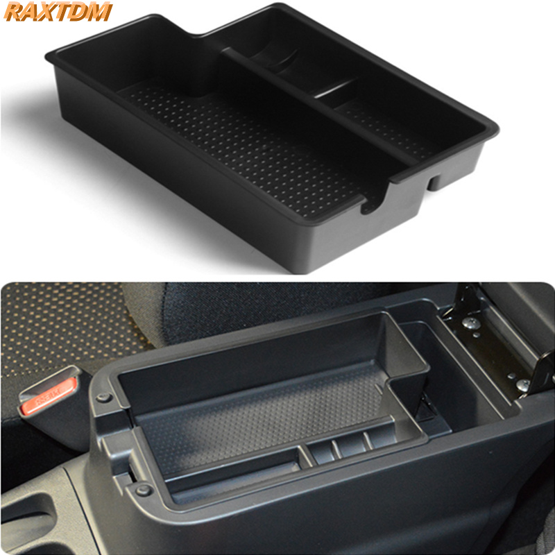 Organisateur de voiture fit pour mitsubishi outlander asx 2012-2015 central accoudoir titulaire bac contenant boîte de rangement accessoires