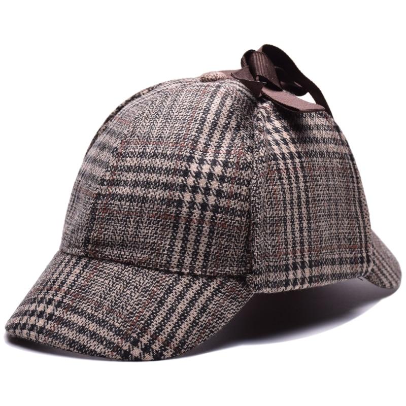 Sherlock Holmes Hat Deerstalker Berets Detective Cap Cosplay High ... 702934a10f06