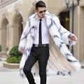 S-3XL Осень зима мужчины мода нормик искусственного меха пальто траншеи шерсть шуба мужская шинель длинные дизайн пушистый куртки пальто