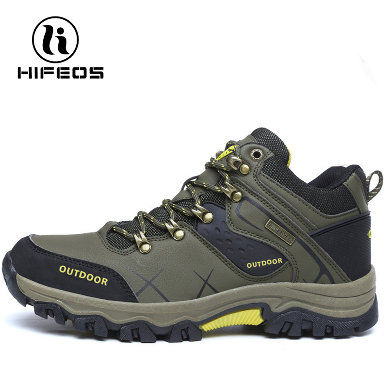 HIFEOS Hiking Boots  Couple shoes Non-slip Damping Walking shoes Trekking Shoes Mountaineers Climbing Waterproof Camping Shoes цена и фото