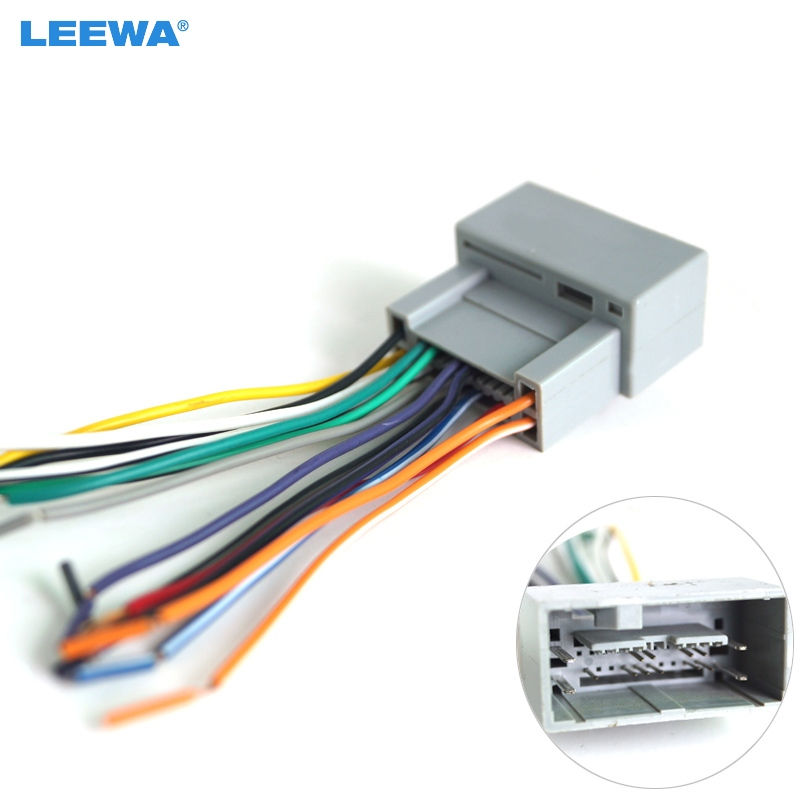 Leewa Car Radio Audio Stereo Amplifier Interface Wire Harness For Honda  2008