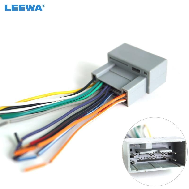 இleewa car radio audio stereo amplifier interface wire harness for car audio fans leewa car radio audio stereo amplifier interface wire harness for honda (2008~2013) install aftermarket cd dvd stereo 2959