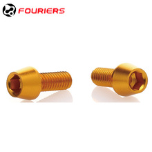 FOURIERS BN-M004 Bike Bicycles Water Bottle Cage Bolts M5x0.8 17mm Aluminium alloy Screws for Bottle Holder Cycling Accessories