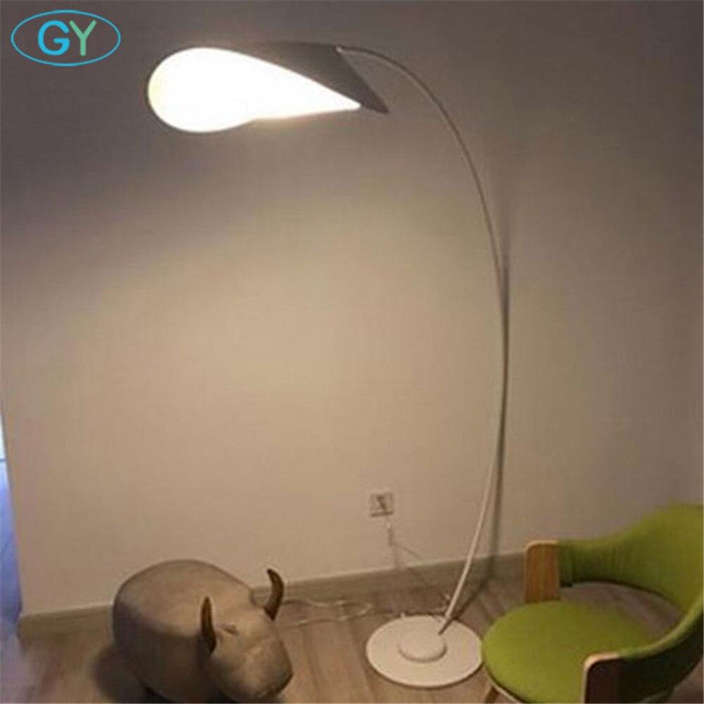 Projekt Kunst Dekoration Stehlampe Moderne Designer Stehleuchte Schwarz  Gelb Wei Led Angeln Lampen Fr Wohnzimmer In Projekt With Stehleuchte Wei.