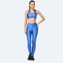 2016 Fitness Workout Clothing And Women's Gym Sports Running Girls Slim Leggings+Tops Yoga Sets Bra+Pants Sport Suit Female TZ20