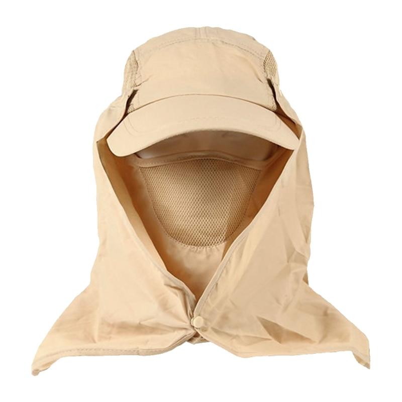 Men/Women Fishing Hiking Hat Outdoor Sport UV Sun Protection Neck Face Flap Cap Wide Brim Travel Camping Hiking Cap