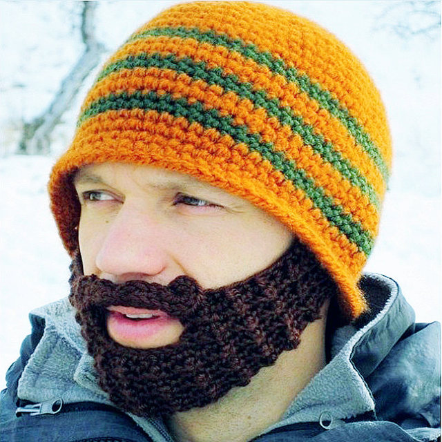10 Colors Interesting Knitted Hats For Men Women Cotton Acrylic New  Handmade Men s Skullies Caps Creative Beard Funny Beanies dac278892fec