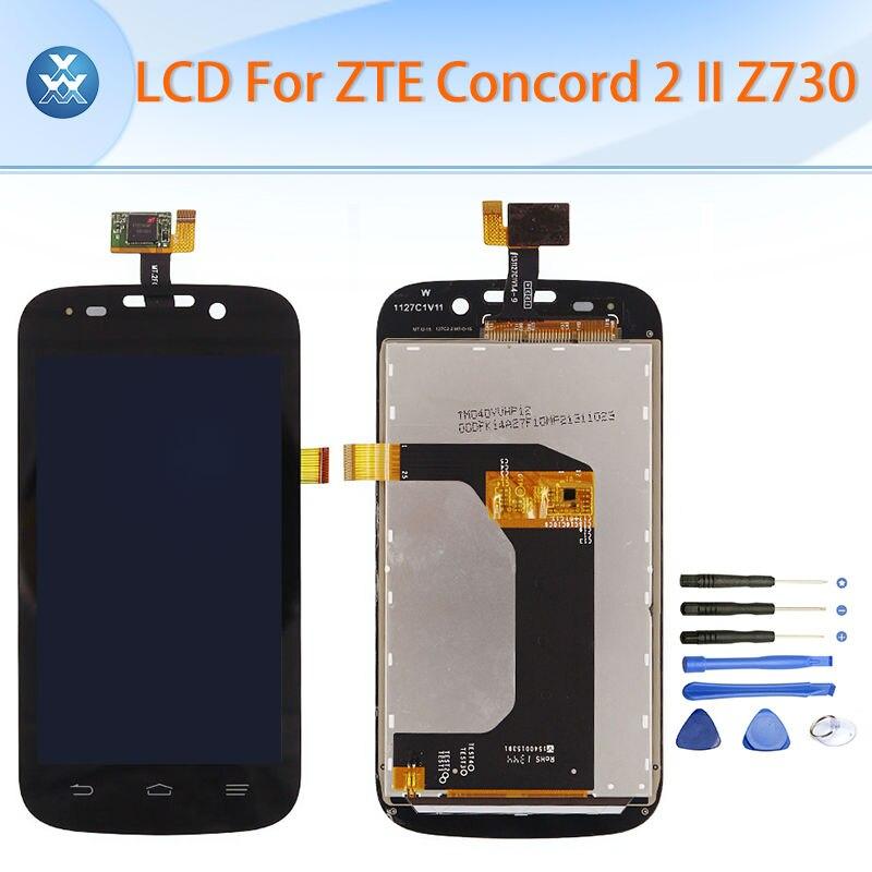 Pantalla lcd para zte concord 2 ii z730 lcd asamblea del digitizador de la panta