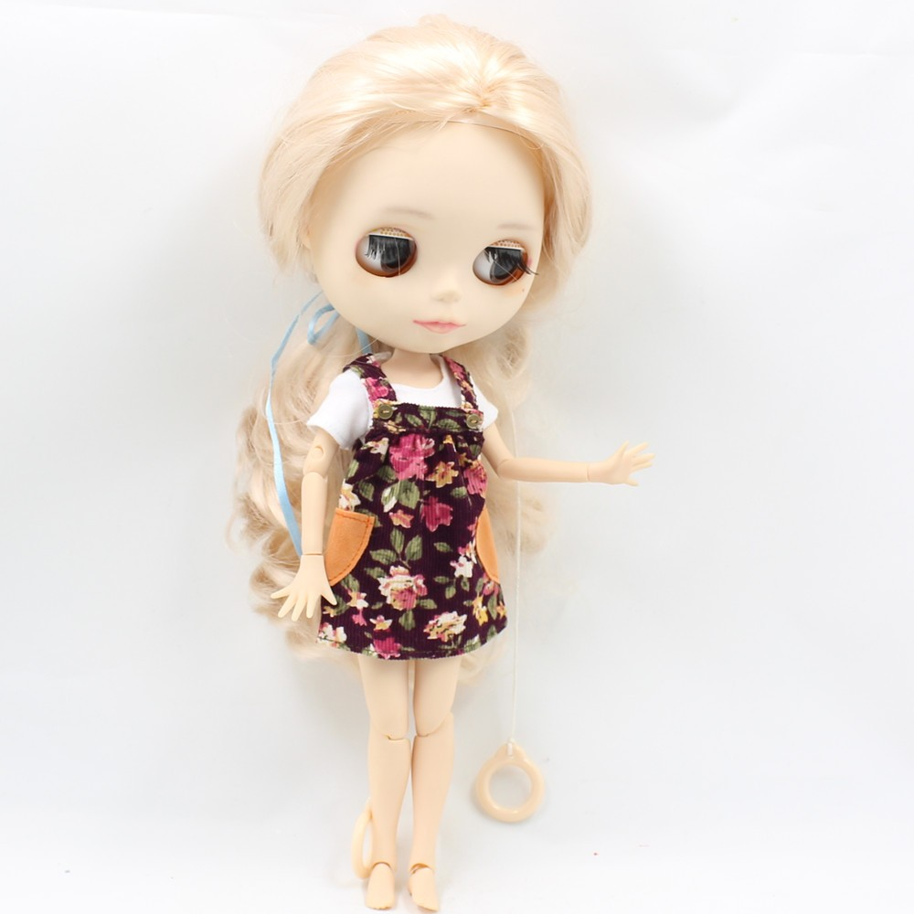 Neo Blythe Doll Floral Spring Overall Dress 3