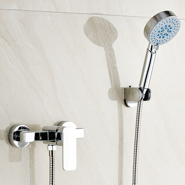 Free shipping,Modern design bath shower faucet set faucet+shower ...