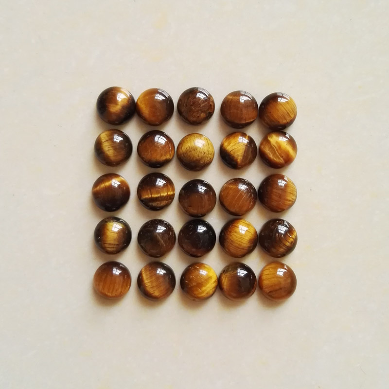 wholesale fashion Natural tiger eye stone round cab cabochon beads for jewelry Accessories 8mm 50pcs/lot free