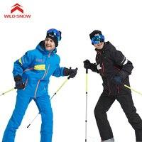 Дикий Снег профессиональный лыжный костюм Водонепроницаемый ветрозащитный зимний костюмы для снежной погоды Мужская зимняя Лыжный Спорт