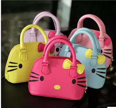 2018 hello kitty bag leather women female tote designer shell handbags high  quality bags clutch bolsas femininas couro 49-in Top-Handle Bags from  Luggage ... 94576e3fcbed9