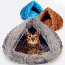 Lit pour animaux de compagnie, doux et chaud, niche pour petits chiens et chats, grotte, sac de couchage, tapis, tente, hiver