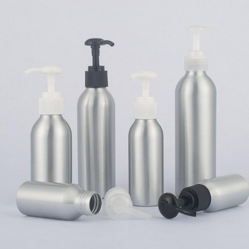 40ml-250ml Aluminum Bottle With Round Pump,Emulsion Press Bottle