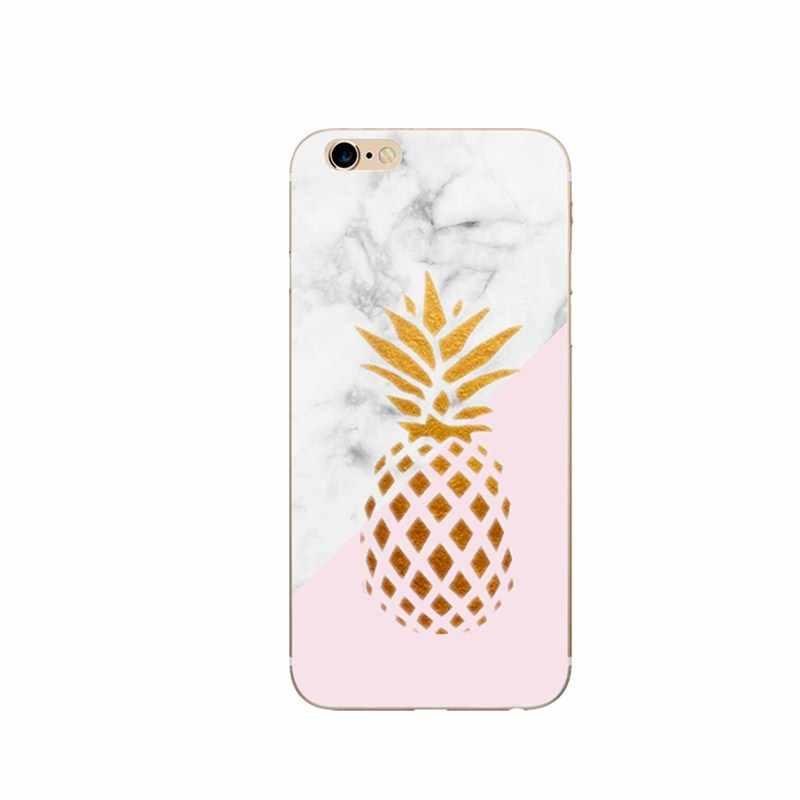 Роскошный чехол с ананасом для iphone 6 S мрамор 360 Мягкий силиконовый чехол для iphone XS iphone x 7 8 Plus 6 6 S 55 5 SE