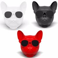 Portable Wireless Bluetooth Bulldog Speakers MP3 Player Dog Speaker Mini Boombox for iphone xiaomi Mobile Phone Computer Gift