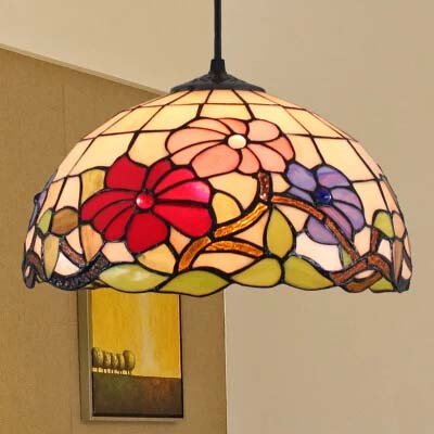 Led Pendant Lights For Dining Room Hallway Bedroom Balcony Porch Ceiling Lamp Stained Glass