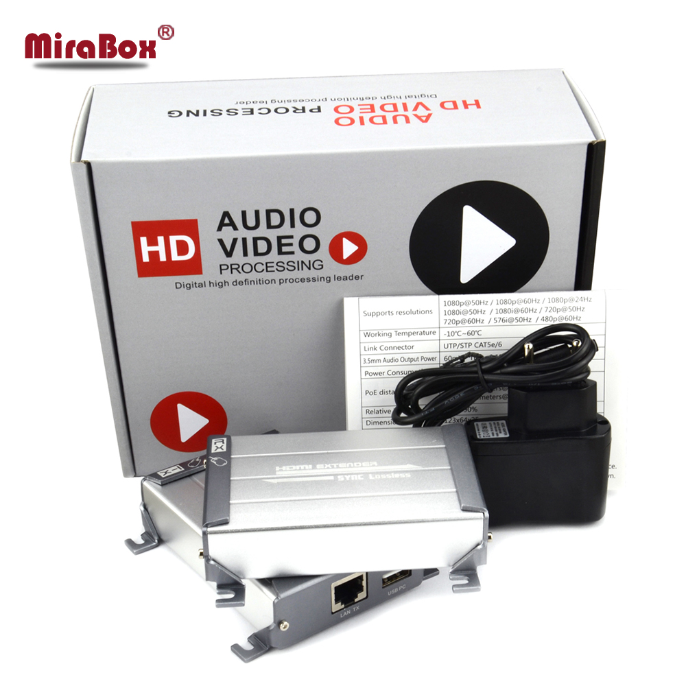 MiraBox HDMI KVM USB Extender Support 1080p HD 80m Point To Point with Video Lossless No Delay Over UTP Cat5/5e/Cat6 Rj45 LAN