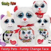 Original Brand Change Face Feisty Pets Plush Dolls Toys Stuffed Animal For White Bear Fashion Prank