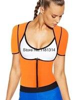 Sexy Bodysuit Women Body Neoprene Hot Shaper Slimming Sweat Fat Burning Underwear T shirt Shapewear Vest Slimming Suits XS-5XL