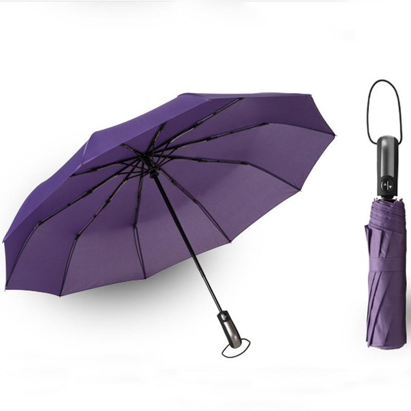 Wind Resistant Three Folding Automatic Umbrella Rain Women Auto Luxury Big Windproof Umbrellas Men Frame Windproof Parasol same as picture