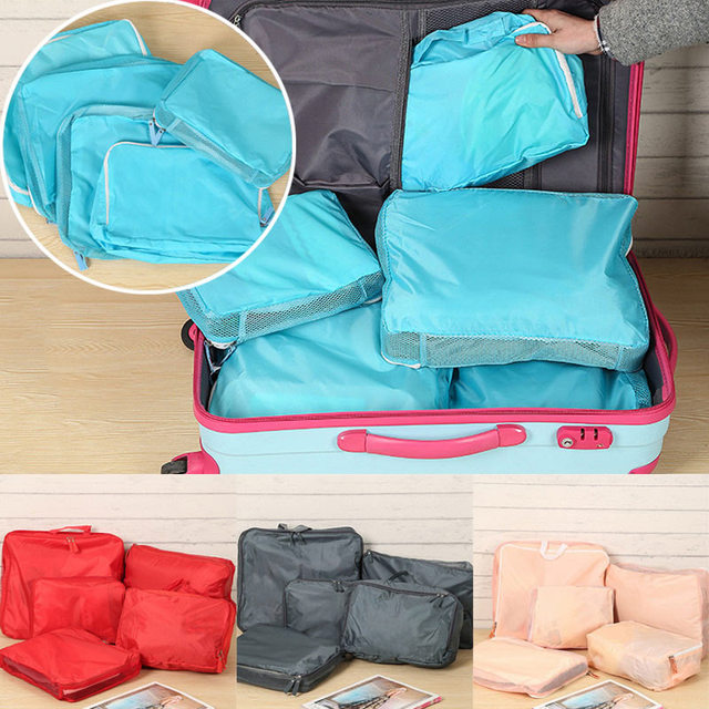 5pcs Travel Storage Portable Organizer Clothes Luggage Zipped Suitcase Pouch Bag Case E2shopping J2Y & 5pcs Travel Storage Portable Organizer Clothes Luggage Zipped ...