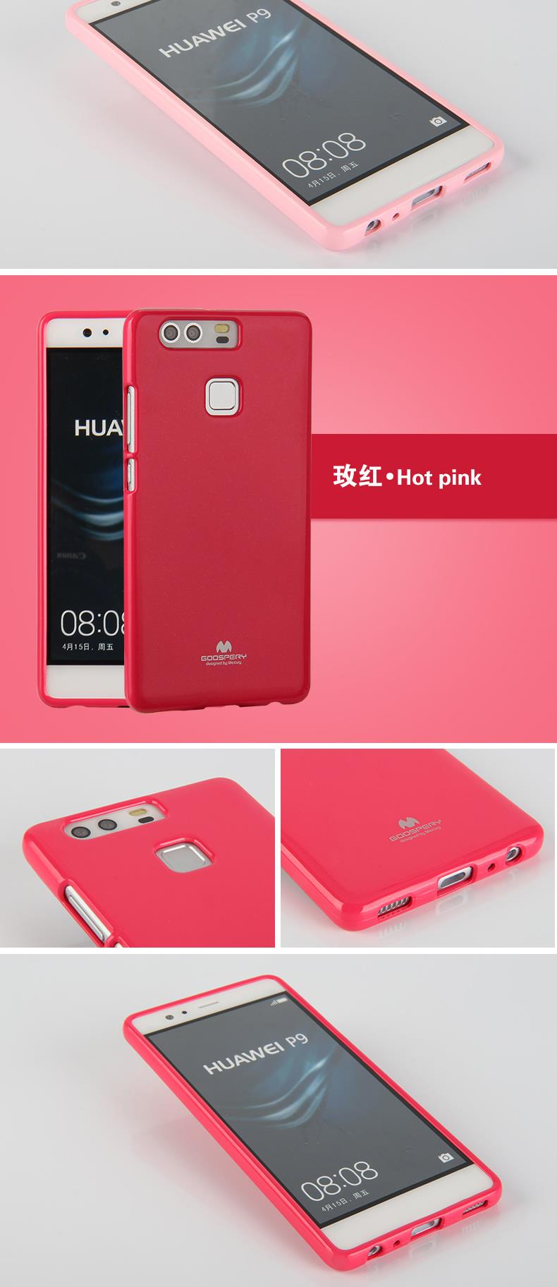 For Huawei P9 Pearl Tpu Case Mercury Goospery Jelly Bling All Type Special  Hotpink Aeproduct