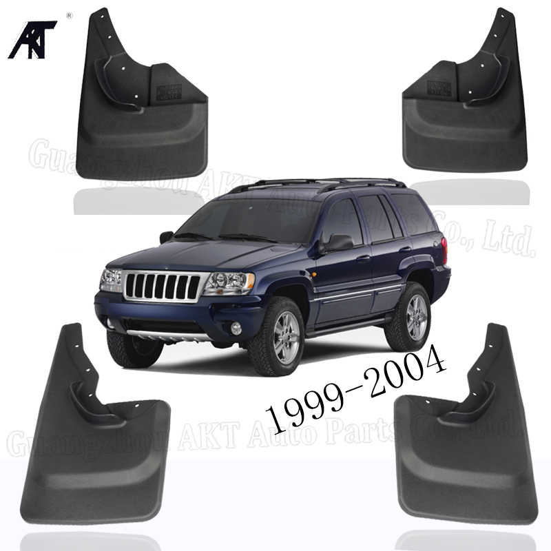 Set of 4 Mud Flaps Splash Guards for Jeep Grand Cherokee 1999-2004 Laredo Edition only