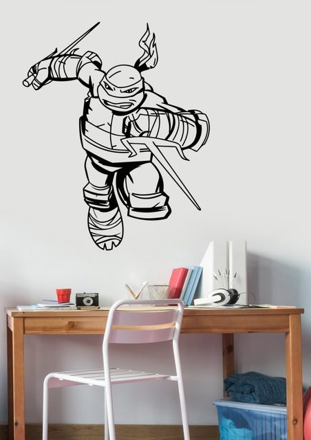 Ninja Turtles Wall Decal Boys Bedroom Superhero Wall Stickers Home Decor  Kids Wall Decals Nursery Decor Windows Sticker WW 58