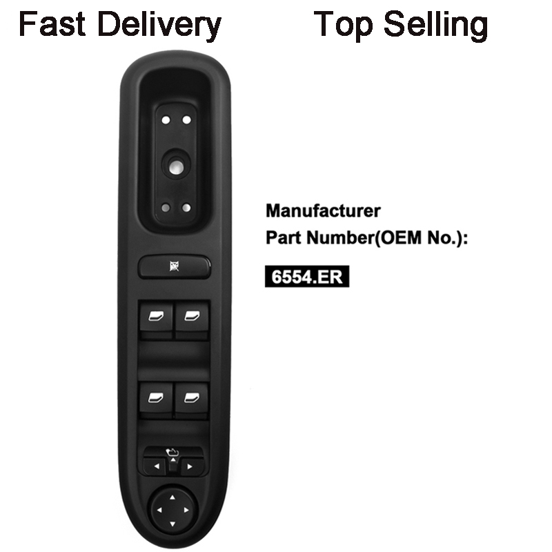 YAOPEI Electric Window Switch Control Panel For Peugeot 407 SW 2004-2010 6554.ER 96468704XT