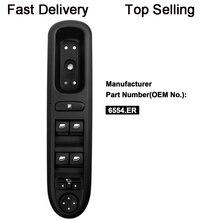YAOPEI Электрический переключатель окна панель управления для peugeot 407 SW 2004-2010 6554.ER 96468704XT