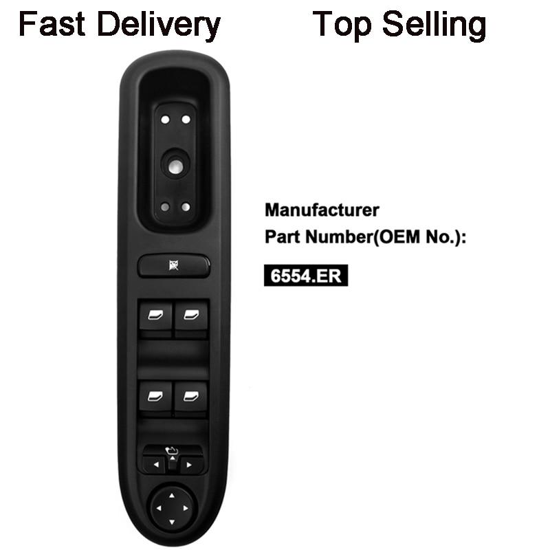 YAOPEI Elektrische Fenster Switch Control Panel für Peugeot 407 SW 2004-2010 6554.ER 96468704XT