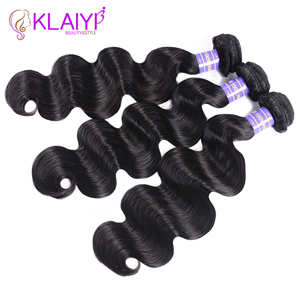 Image 5 - Klaiyi 브라질 헤어 위브 3 번들 바디 웨이브 자연 블랙 컬러 인간의 머리카락 확장 레미 헤어 3 개/몫/많은 염색 수 있습니다