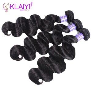 Image 5 - Klaiyi ضفيرة شعر برازيلي 3 حزم الجسم موجة اللون الأسود الطبيعي وصلة إطالة شعر طبيعي شعر ريمي 3 أجزاء/وحدة يمكن مصبوغ